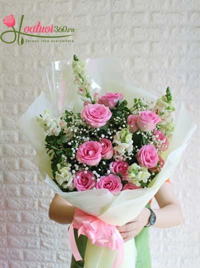 Bó hoa hồng - Lời ngọt ngào cho em