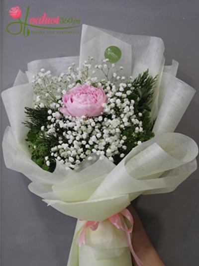 Bó hoa mẫu đơn - Ngọt ngào
